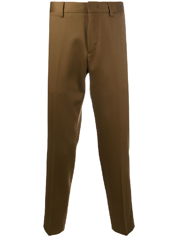 Pt01 Rebel Straight-leg Trousers In Brown