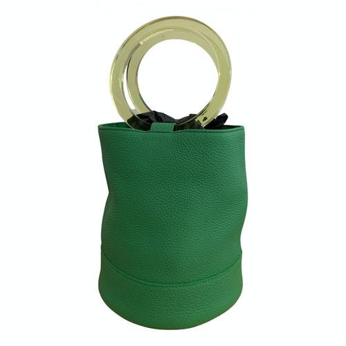 Simon Miller Medium Bonsai Green Leather Handbag