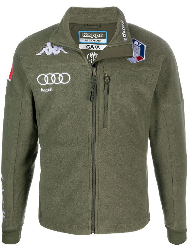 Kappa 6cento Zip-up Sweatshirt In Green