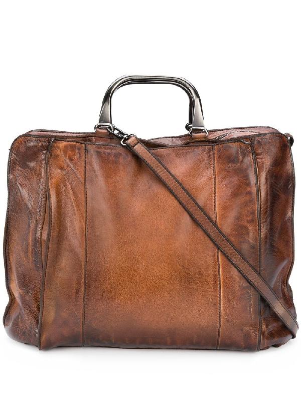 Numero 10 Big Cassan Briefcase In Brown