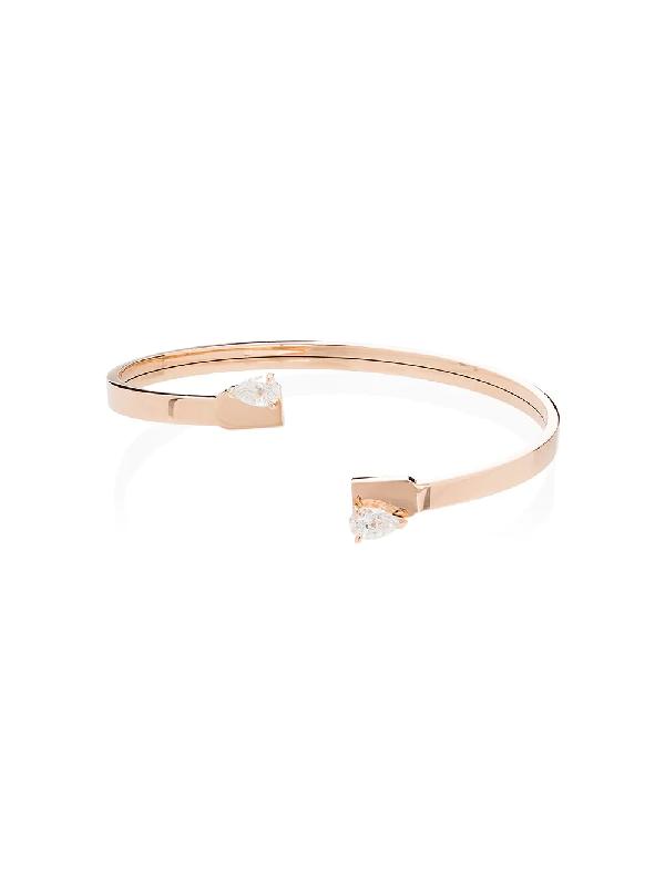 Repossi Serti Sur Vide 18ct Rose-gold And Diamond Bracelet In Pink