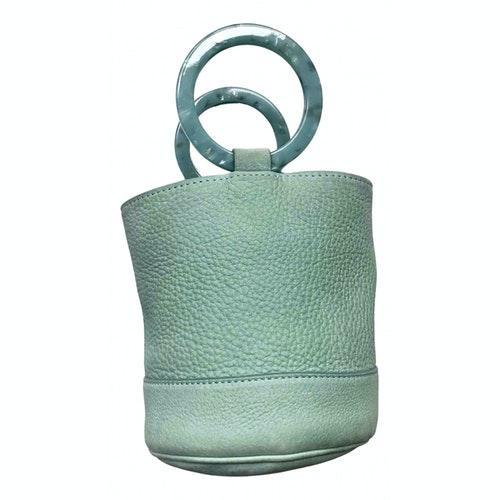 Simon Miller Small Bonsai Turquoise Leather Handbag