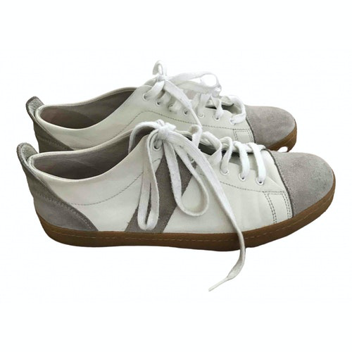 Bensimon White Leather Trainers