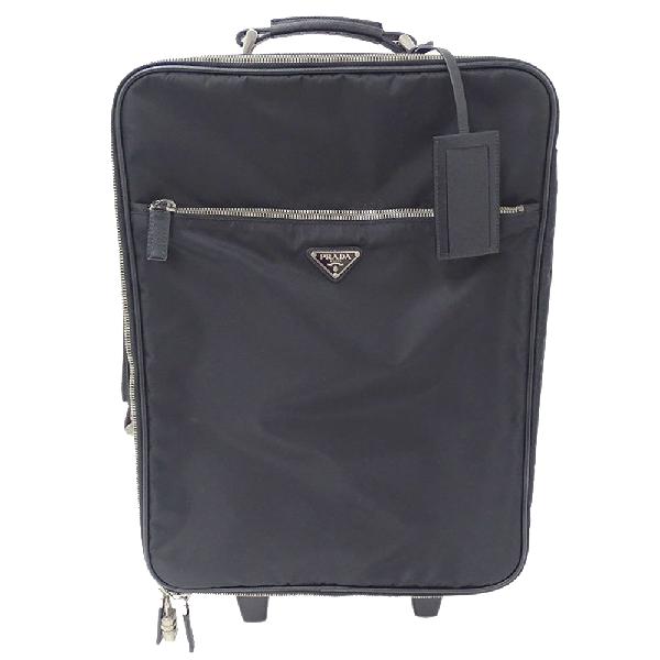 Prada Black Nylon Suitcase