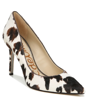 Sam Edelman Women's Hazel Stiletto Pumps Women's Shoes In White & Brown