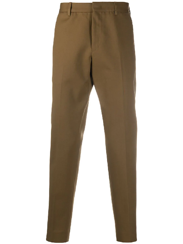 Pt01 Straight-leg Virgin Wool Trousers In Brown