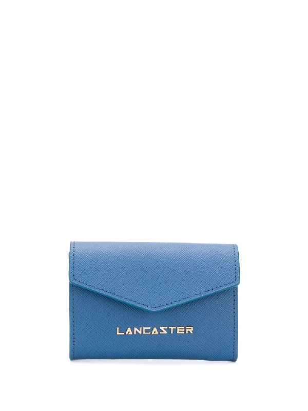 Lancaster Compact Logo Wallet In Blue