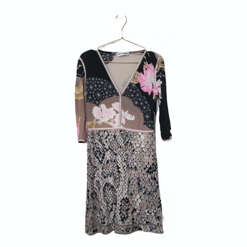 Leonard Pink Silk Dress