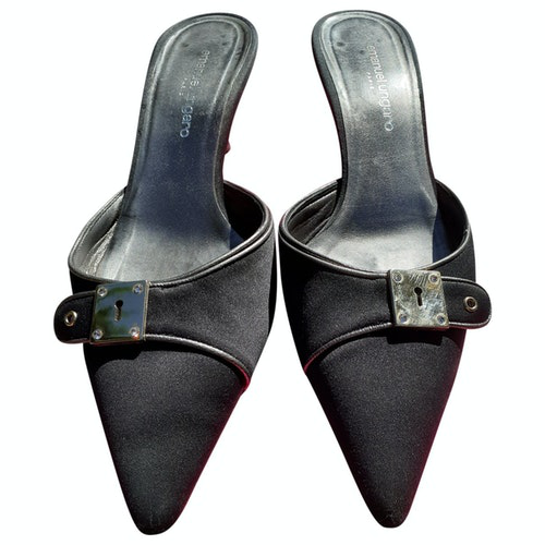 Emanuel Ungaro Anthracite Cloth Sandals