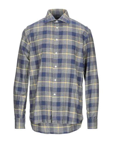 Brió Checked Shirt In Slate Blue