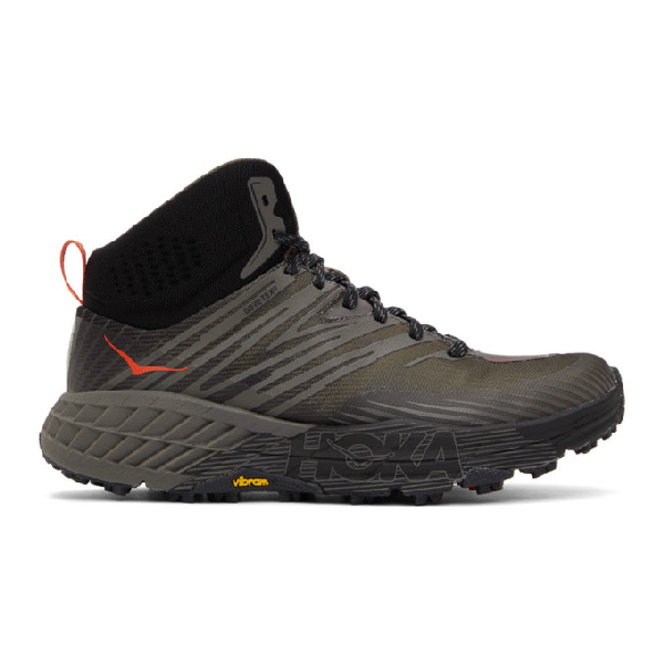 Hoka One One Black Speedgoat Mid 2 Gore-tex® Sneakers In Anthracite
