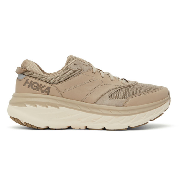 Hoka One One Taupe Bondi Lifestyle Sneakers In Dune/tan