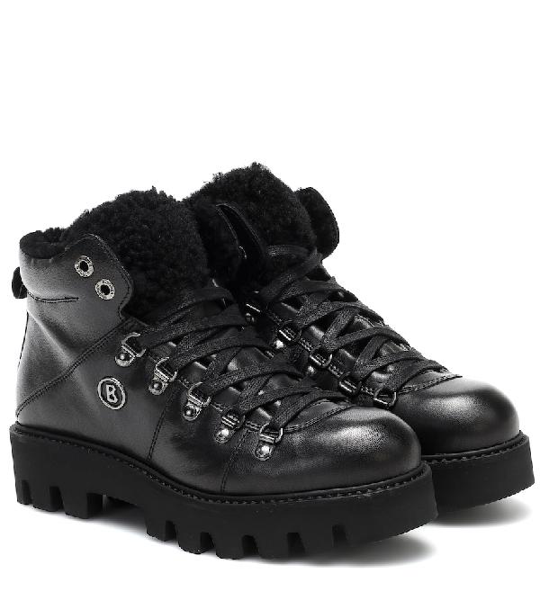 Bogner Copenhagen Leather Snow Boots In Black