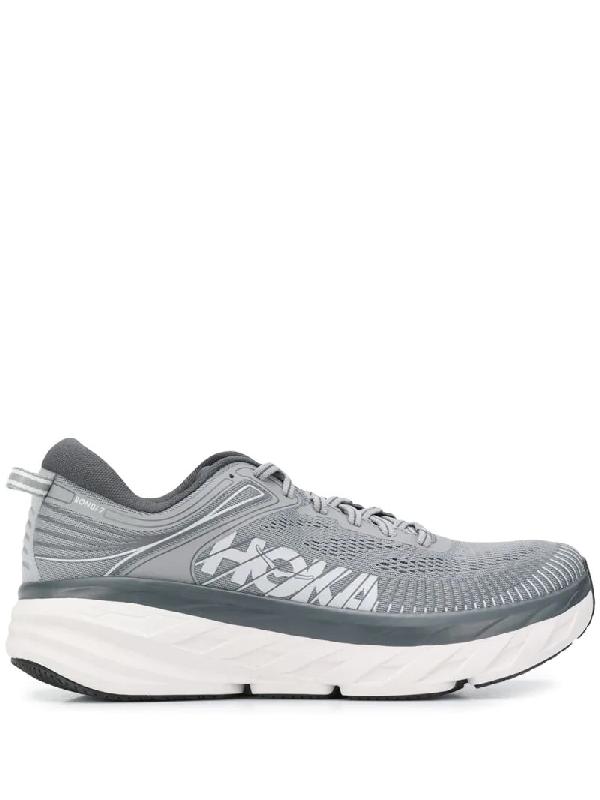Hoka One One Logo Low-top Sneakers In Grey