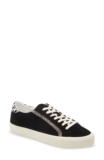 Madewell Sidewalk Low Top Sneaker In Black Ivory Multi