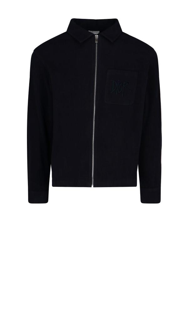 Dior Men's Blue Cotton Sweatshirt