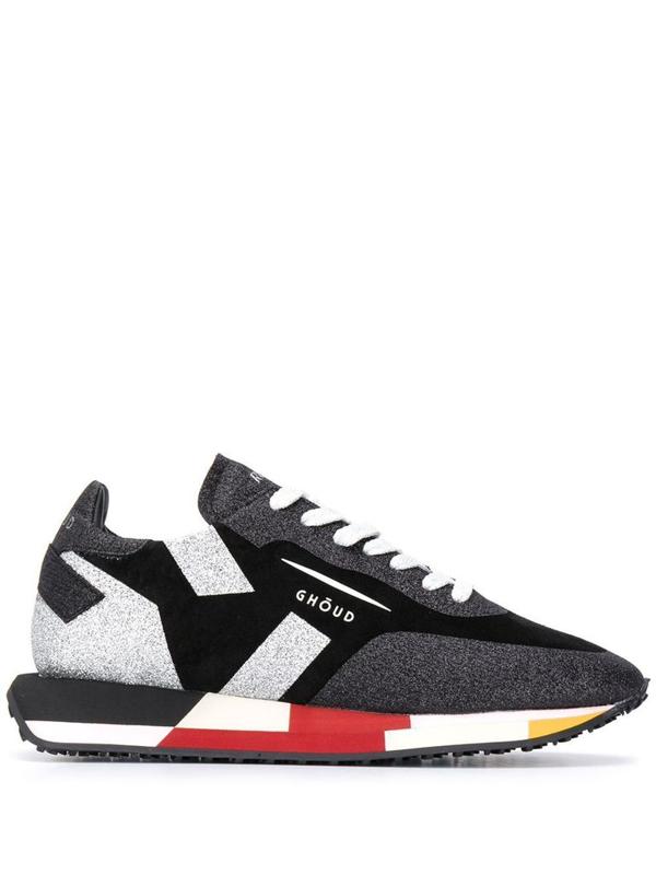 Ghoud Colour-block Logo Sneakers In Black