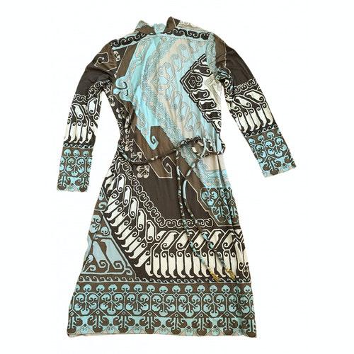 Leonard Beige Silk Dress