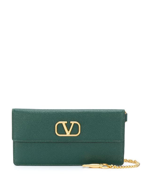 Valentino Garavani Vlogo Wallet-on-chain In Green