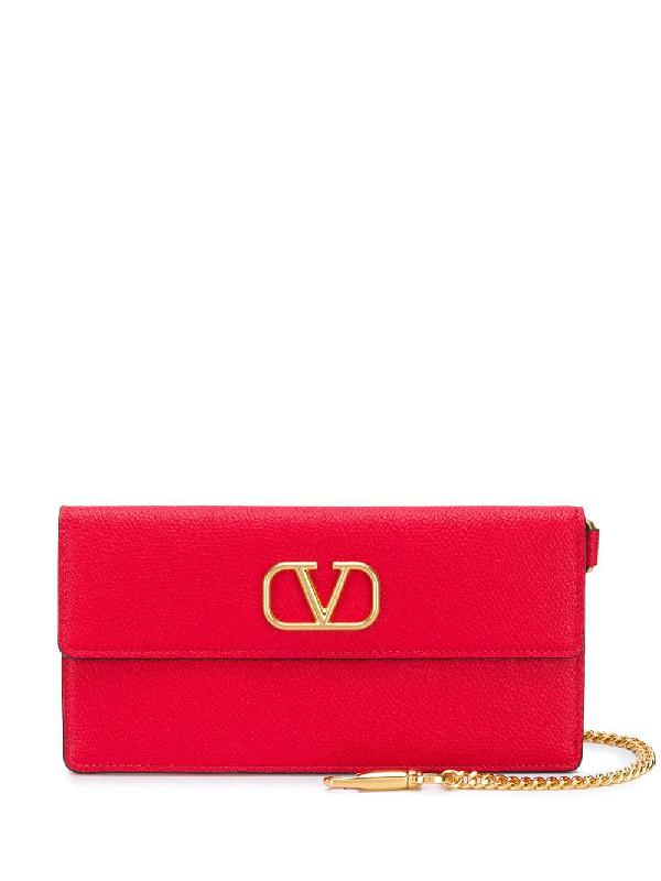 Valentino Garavani Vlogo Wallet-on-chain In Red