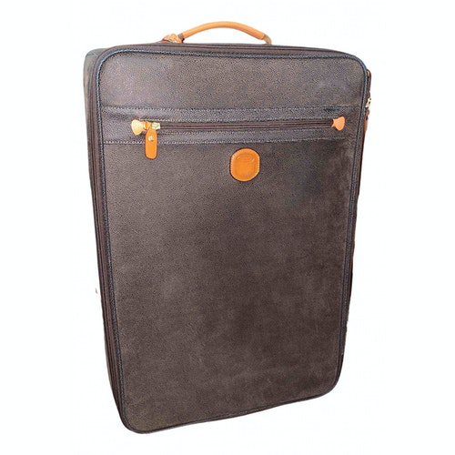 Bric's Brown Leather Travel Bag