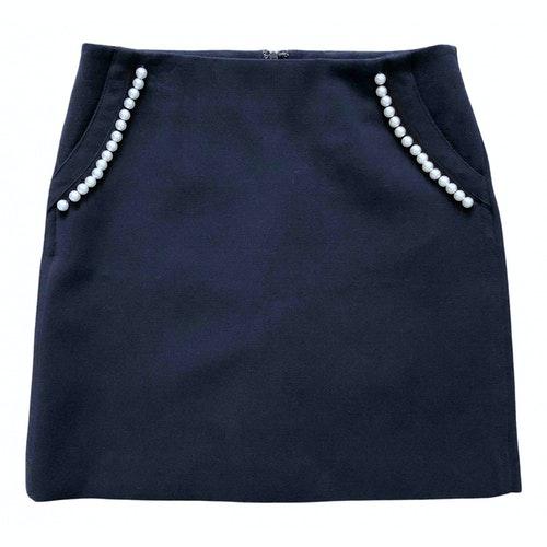 Claudie Pierlot Fall Winter 2019 Navy Skirt