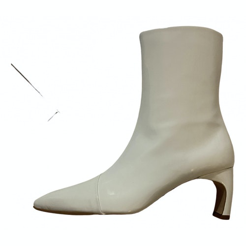 Rosetta Getty White Patent Leather Boots