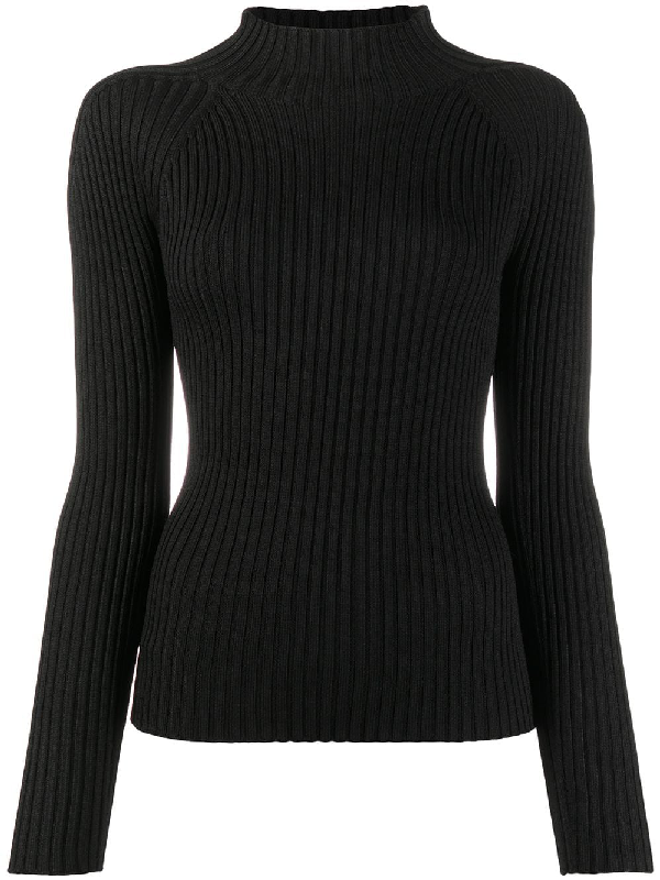 Christian Wijnants Ribbed-knit Jumper In Black