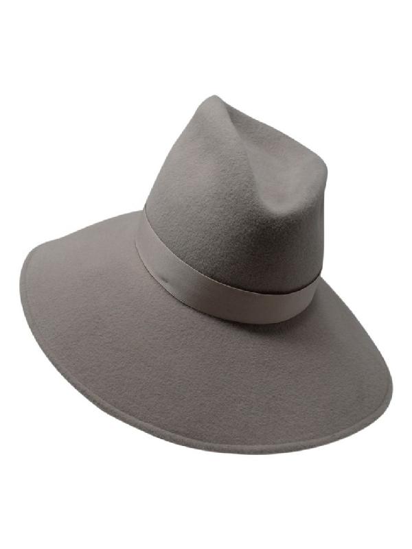 Gigi Burris Millinery Drake Fedora Hat Grey