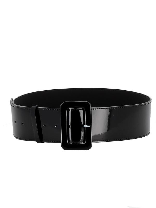 P.a.r.o.s.h. Moonbelt Black Patent Leather Belt