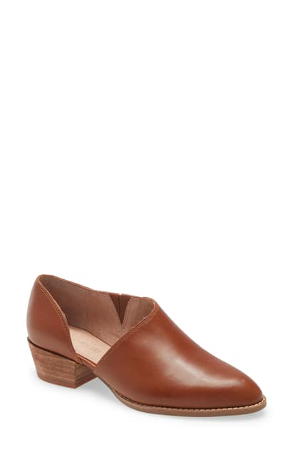 Madewell The Lucie Bootie In English Saddle Leather
