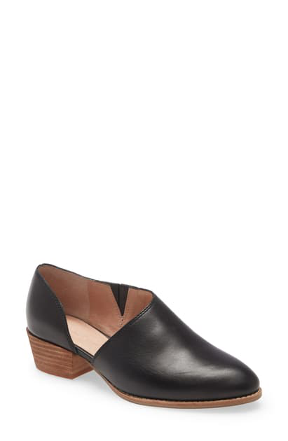 Madewell The Lucie Bootie In True Black Leather