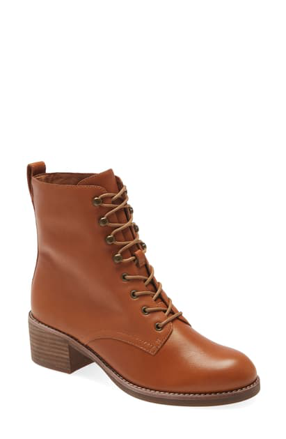 Madewell The Patti Lace-up Boot In English Saddle