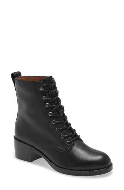 Madewell The Patti Lace-up Boot In True Black