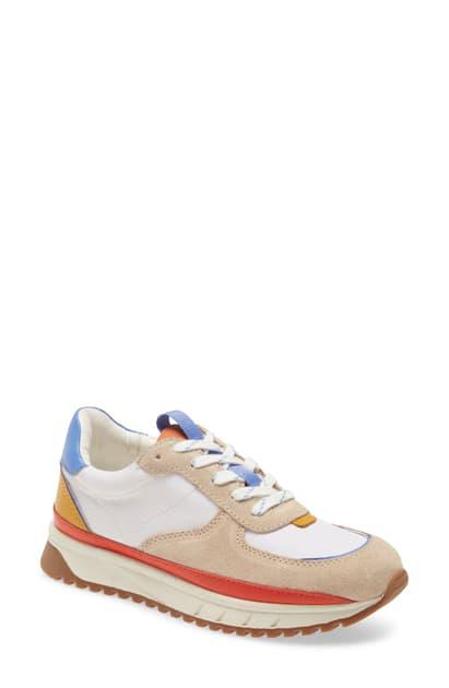 Madewell Kickoff Sneaker In Light Sand Multi