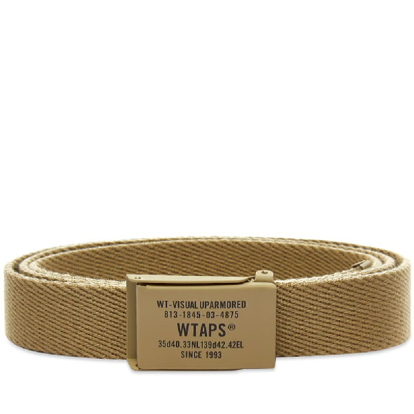 Wtaps Web Belt In Neutrals