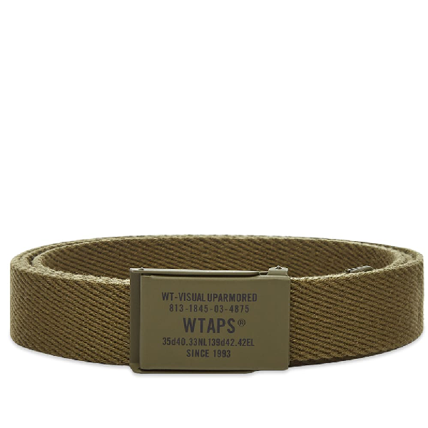 Wtaps Web Belt In Green