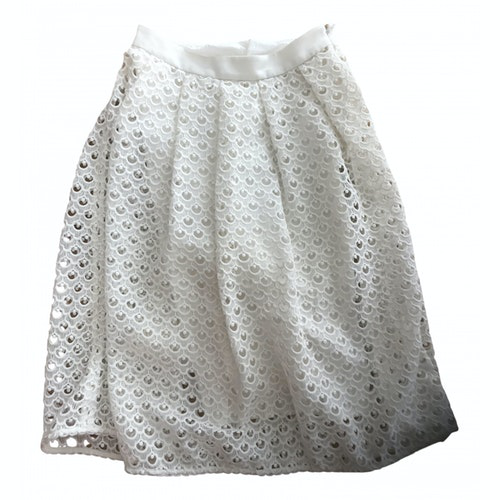 Claudie Pierlot White Cotton Skirt