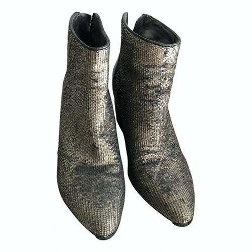 Fiorifrancesi Metallic Leather Heels