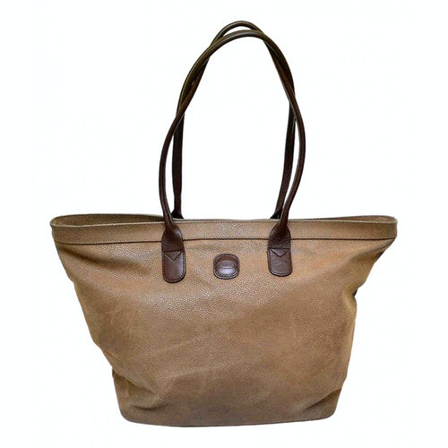Bric's Beige Leather Handbag