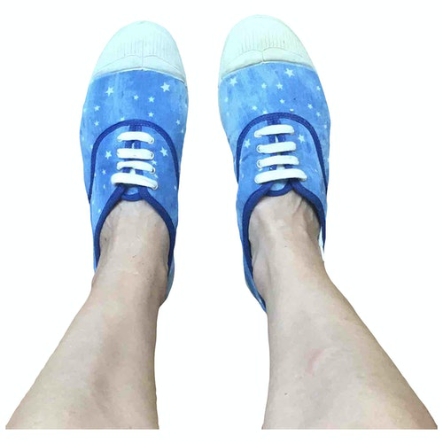 Bensimon Blue Cloth Trainers