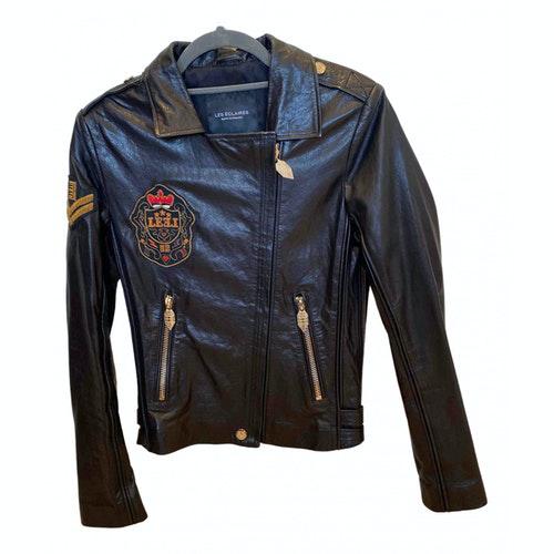 Les Éclaires Black Leather Jacket