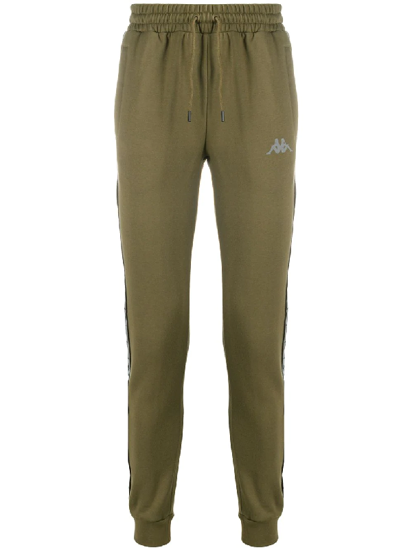 Kappa Logo Side Panel Trousers In Green