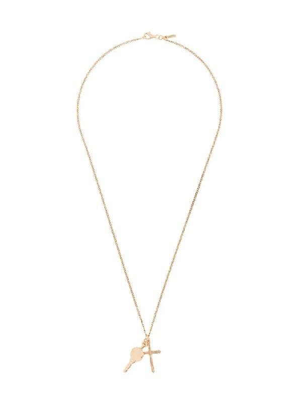 Emanuele Bicocchi Cross Pendant Chain Necklace In Gold