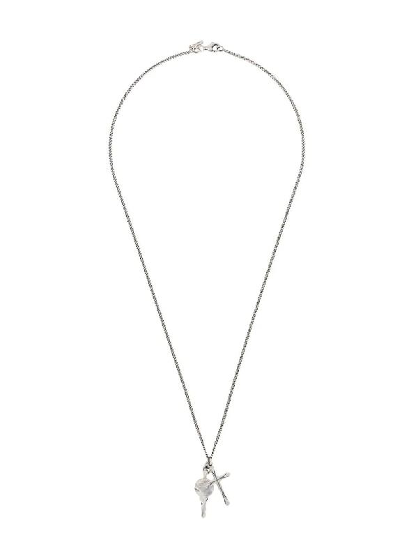 Emanuele Bicocchi Cross-pendant Long Necklace In Silver