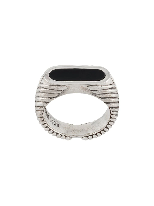Emanuele Bicocchi Flattened Stone Ring In Metallic
