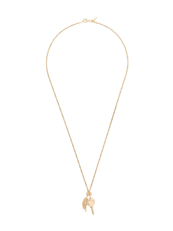 Emanuele Bicocchi Wing Pendant Necklace In Gold