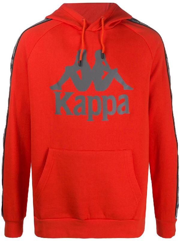 Kappa Logo Drawstring Hoodie In Orange