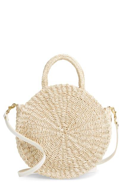 Clare V Moyen Alice Abaca Bag In Cream