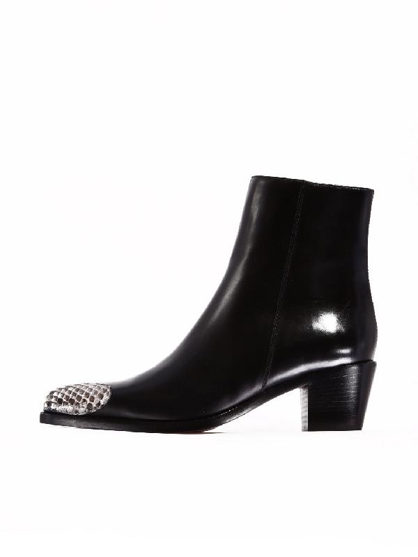 Boyy Ankle Boot Heart Leather In Black
